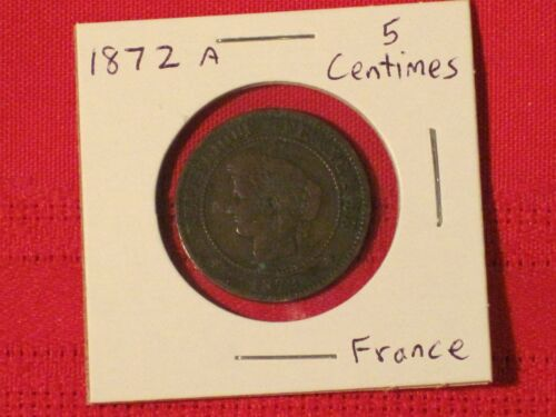 *** 1872-A   5 Centimes / France  - Very nice!KM# 821.1