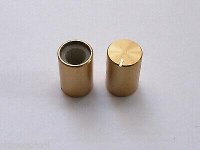 12pcs Aluminum Gold Knobs Volume Tone Control Knob 15mmx10mm