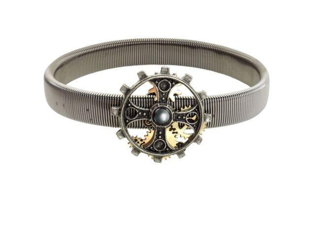 Alchemy Empire: Steampunk Foundryman's Ring Cross Pewter Sleeve Band BRAND NEW