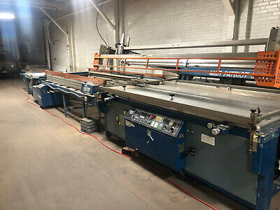 Silk Screen Printing Press Take Off Systems And Vitran Dryer. Large Format.