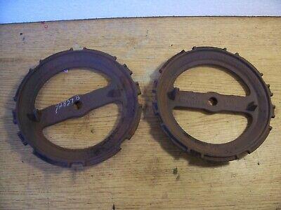 1 Vintage Cast Iron Jd Planter Plate Y2827b Lot N7