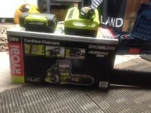 RYOBI CORDLESS CHAINSAW + BATTERY AND CHARGER Richardson Tuggeranong Preview