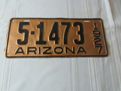 1927 ARIZONA RESTORED LICENSE PLATE 5-1479