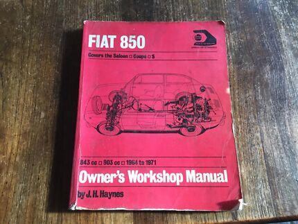 Workshop manual Fiat 850 Bentleigh Glen Eira Area Preview