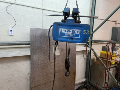 Shaw-Box 3 Ton Electric Wire Rope Hoist 3-113981-3A 16FPM