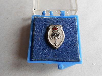 Vintage FTA Future Teachers of America Sterling Silver Pinback Lapel Pin