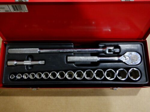 PROTO J54122 1/2 DRIVE 18 PC. SOCKET SET - 6 POINT