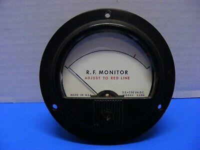 R.f. Monitor Panel Meter F.s.100 Ua.d.c Model 53rn Honeywell