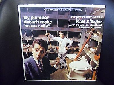 Kalil   Taylor Plumber Doesnt Make   Vg  Lp Capitol Records Comedy Spoken Word