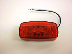 1-2-x-4-Red-4-LED-Bargman-Marker-Clearance-Light-47-58-31-RV-Trailer-58