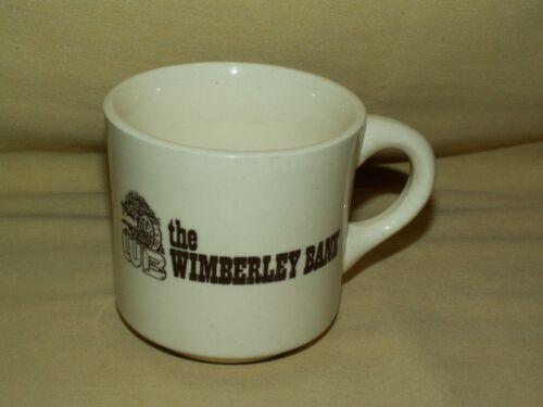 WIMBERLEY BANK MUG CUP WHITE BROWN WATER MILL WB GRAPHIC USA VINTAGE COFFEE TEA*