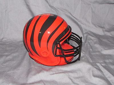 Cincinnati Bengals Vintage 1985 Ceramic Coin Bank Helmet With Face Guard Nib