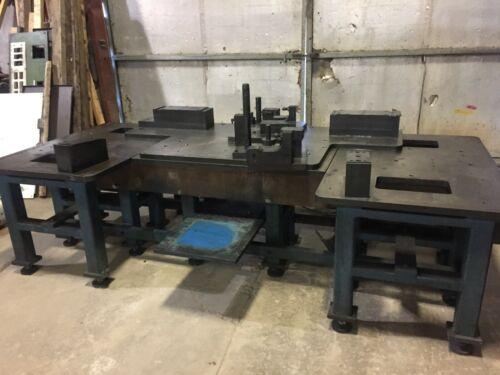 Extra Heavy Duty Industrial Blanchard Ground Machine Base MFG Layout Table
