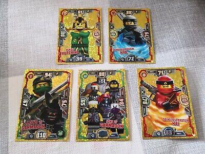 lego ninjago trading cards series 3 X 5