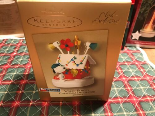 "Keepsake Ornament ""World Famous Christmas Decorator Snoopy"