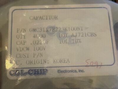 Ceramic Capacitor .022 Uf 100v Smd 1206 300 Pcs