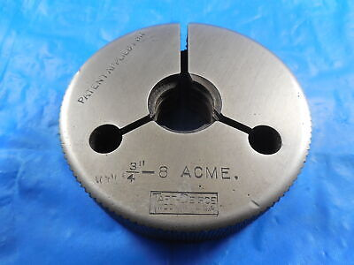 34 8 Acme Thread Ring Gage .75 Go Only Quality Inspection Tooling Taft-peirce