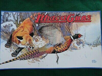 Ithaca Gun Company Advertising Poster, Lynn Bogue Hunt Artist
