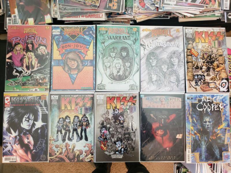 10 HOT IDW Rock & Roll Comics (Kiss Poison Bon Jovi Warrant Alice Cooper!)
