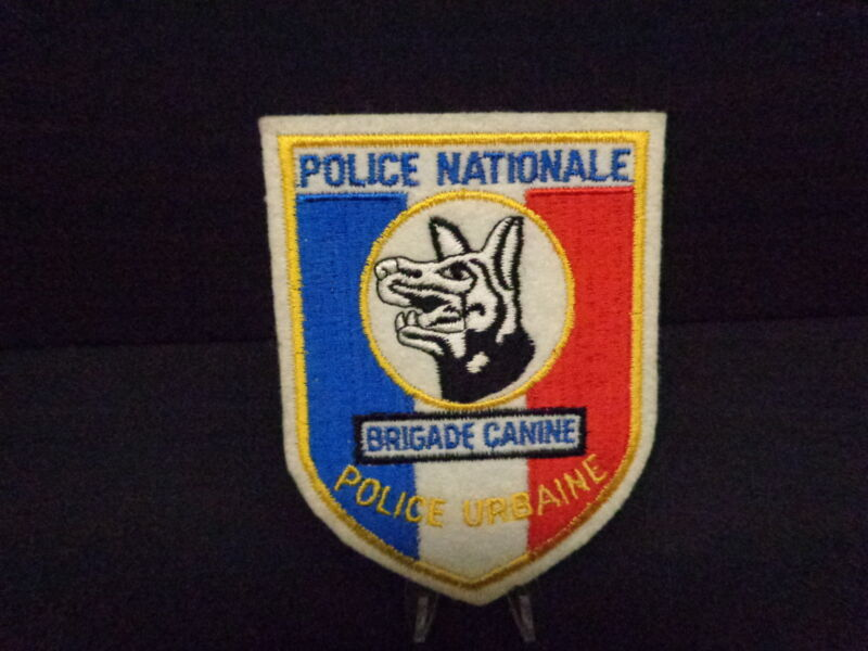 FRENCH NATIONAL POLICE CANINE BRIGADE PATCH, K-9, OLD, FELT