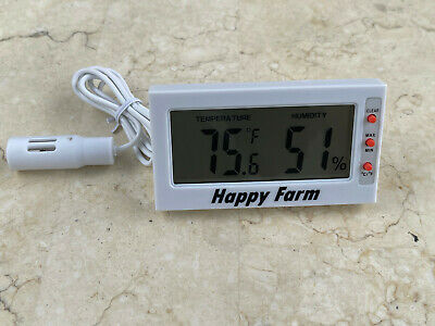 Digital Egg Incubator Thermometer Hygrometer Remote