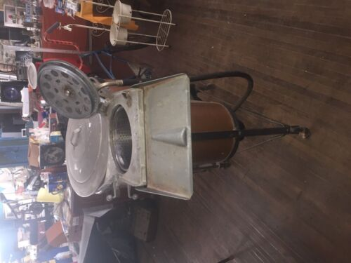 VINTAGE ANTIQUE EASY COPPER CHROME BRASS ELECTRIC WASHING MACHINE