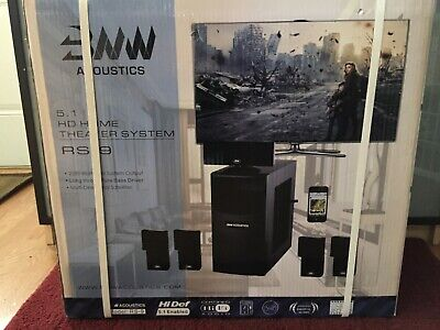 BNW ACOUSTICS 5.1 HD Home Theater System RS-9 BRAND NEW IN BOX 2200 Watts