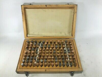 Hdt Minus Pin Gauge Set Model H-4 .626-.750 With Wooden Case Complete