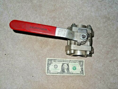 """Flowserve Worcester 1-1/2"""" Stainless Steel  Ball Valve 11/2 H466X BSW"""