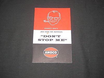 """Amoco, Bennett Cerf's Joke Book for Motorists """"Don't Stop Me""""  1958         k3"""