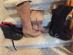 3 pairs ladies size 8 boot, all in great condition, $15 per pair