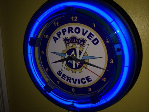 MV Agusta Motorcycle Garage AppService Advertising Man Cave Neon Clock Sign