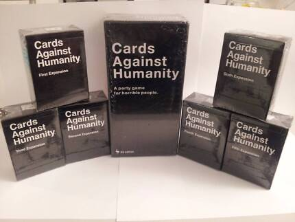 CARDS AGAINST HUMANITY Base Australian Expansions 1 2 3 4 5 6