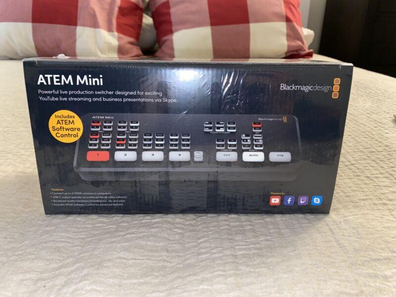 (UNOPENED) NIB Blackmagic Design ATEM Mini HDMI Live Stream Switcher