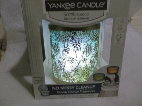 """Yankee Candle Elec. Scenterpiece Warmer, BALSAM BRANCHES"""" w/ LED & TIMER, NIB"""