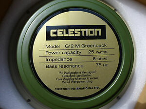 Celestion G12M Greenback 12 Guitar Speaker 8 ohm 25 Watts