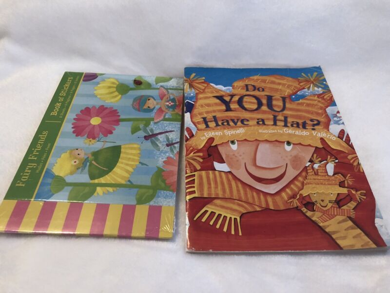 Book Of Stickers Fairy New Not Open And Children's Book Do You Have A Hat ?