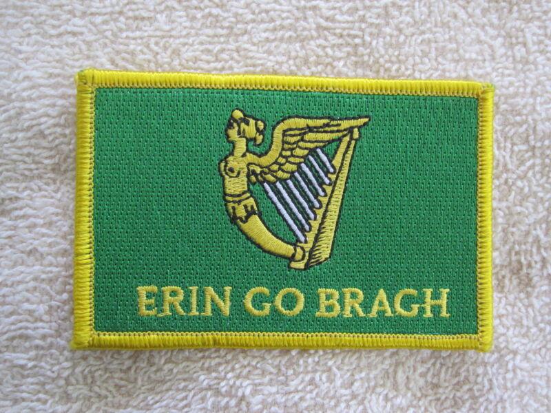 "Ireland ""Erin Go Bragh"" Flag Patch Erin Go Bragh Patch Irish Harp Celtic New!!!"