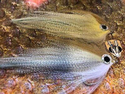 3 V Fly Size 4 Ultimate RV Polarfry Minnow Baitfish Saltwater Flies