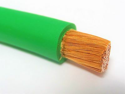 30 Ft 1 Awg Weldingbattery Cable Green 600v Pure Copper Usa Made 105c