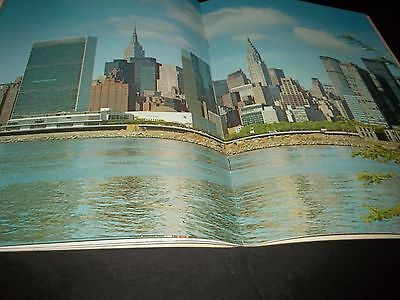 Vintage United Nation Pictoral Book Flags Picture of New York Art