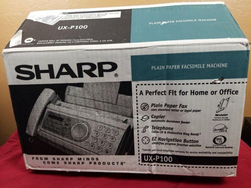 SHARP UX-P100 PLAIN PAPER FAX MACHINE