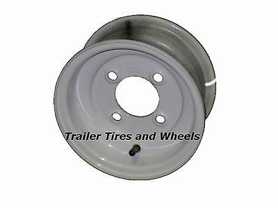 "8"" 4 Lug White Steel Trailer Wheel for 4.80-8 and 5.70-8 Trailer Tires"