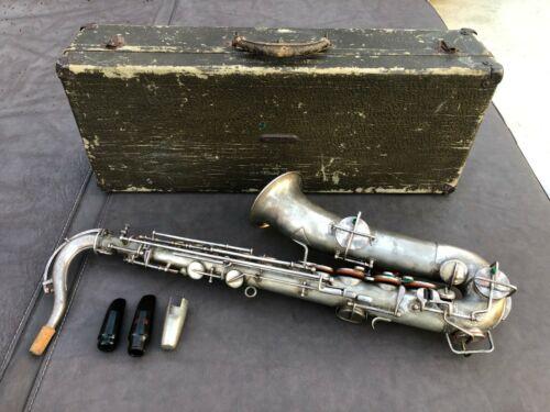 1920s Martin Concertone  Low Pitch C-Melody Saxophone, Bilger Mouthpiece & OHSC