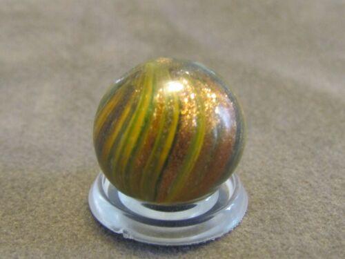 "Gorgeous Antique German Onionskin Lutz Marble Vintage .63 Near Mint 5/8"""