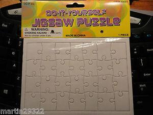 Rectangle Blank Puzzle DIY Jigsaw, 28 Pcs. 6-3/4