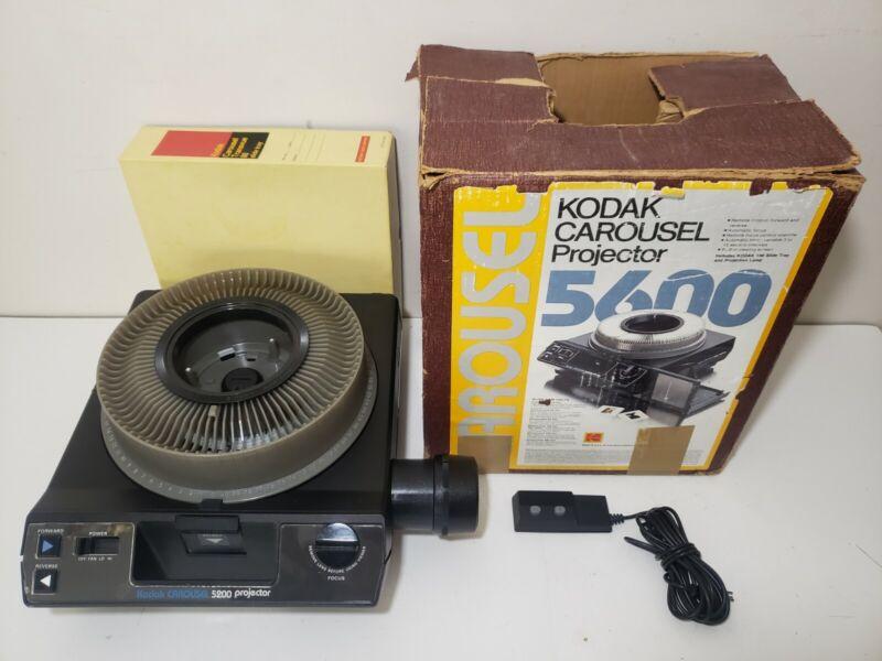 Kodak Carousel 5600 Slide Projector Remote, Extension, Carousel, Original Box