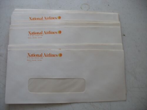 NOS National Airlines business envelopes paper w window MIAMI FLORIDA FL L/60