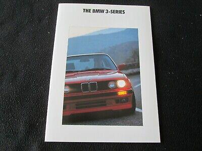 1991 BMW 3-Series E30 Brochure 325i 325iX 318i 318is Last Sedan Coupe US Catalog