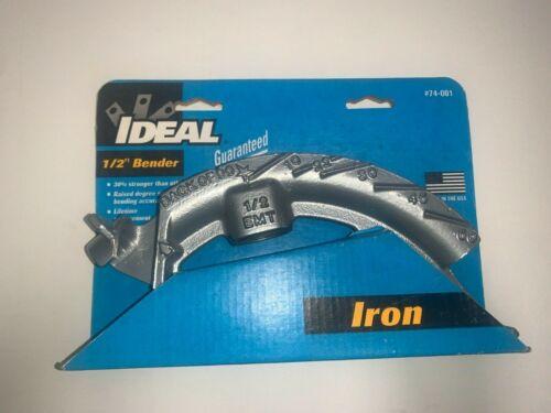 "Brand New IDEAL 1/2"" Iron Conduit Bender 74-001"